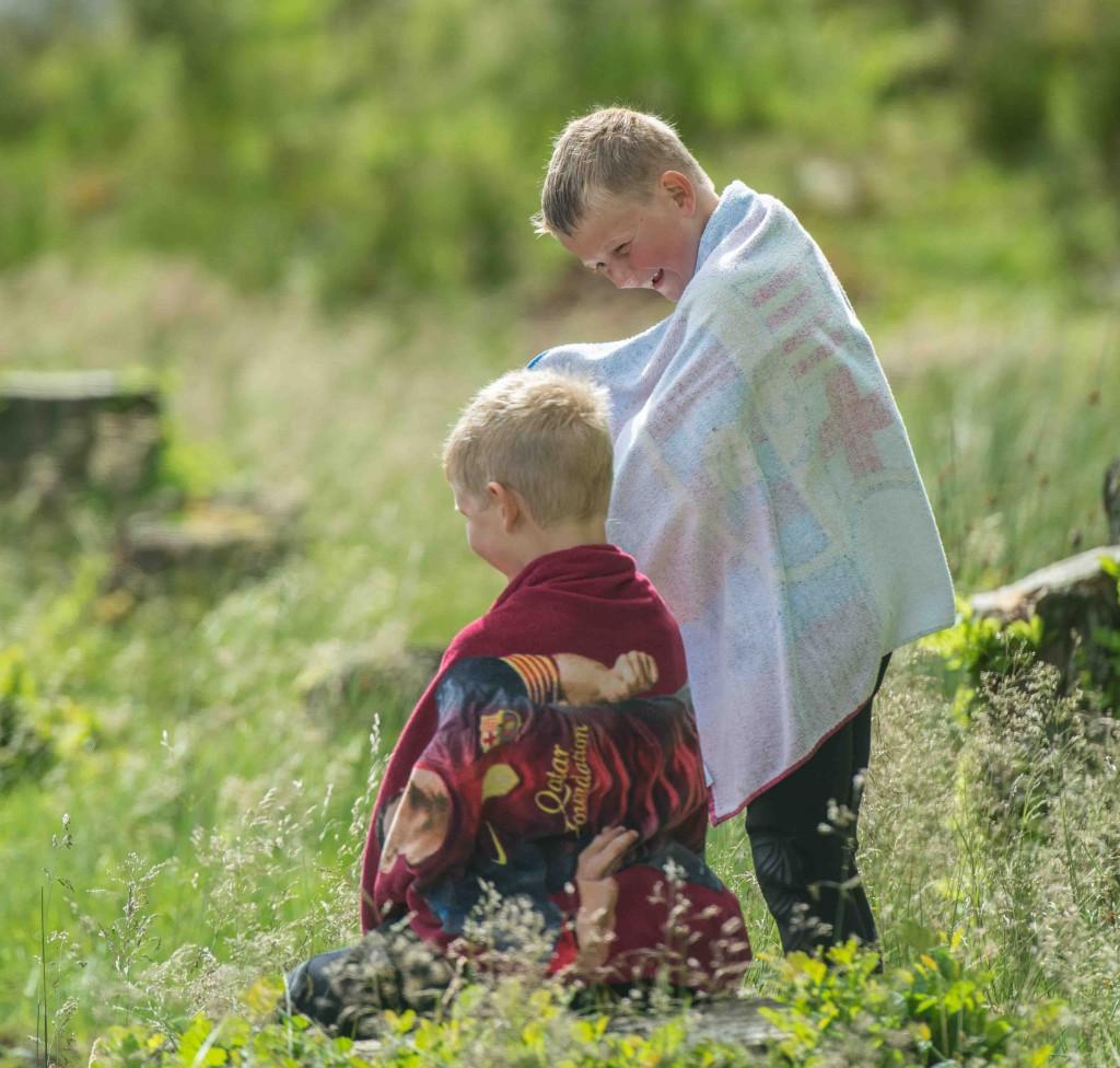 Barn på Bragdøya
